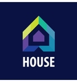 logo House in the form of arrows vector image vector image
