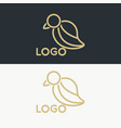 luxury bird logo vector image vector image