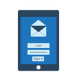 mail client on the tablet vector image vector image