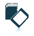 memory card icon vector image vector image