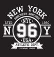 new york brooklyn typography for t-shirt print vector image vector image