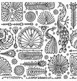 peacock collection ethnic style seamless pattern vector image vector image