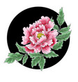 peony flower of japanese style vector image vector image
