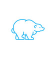 polar bear linear icon concept polar bear line vector image vector image