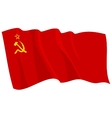 political waving flag of ussr vector image