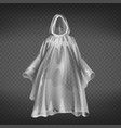 realistic transparent raincoat disposable vector image vector image