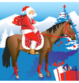 Santa on Horseback vector image