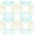 seashell seamless pattern background vector image vector image