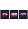 set graphic t-shirt designs typography prints vector image vector image