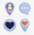 set icons avatar chat message speech pointer vector image vector image