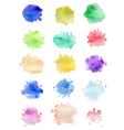 Set of abstract watercolor blots vector image vector image