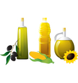 Set of bottle oil vector image