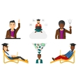 set of student characters vector image
