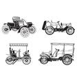set of the retro automobiles vector image vector image