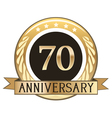 Seventy Year Anniversary Badge vector image