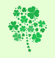 shamrock shape made with green flat vector image vector image