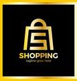 shop bag logo - letter s vector image vector image