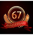 Sixty seven years anniversary celebration with vector image vector image