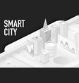 smart modern city isometric banner template vector image