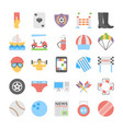 sports and games flat colored icons 5 vector image vector image