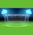 sports stadium with soccer goal vector image vector image