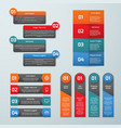step by step options infographic templates vector image
