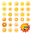 suns vector image vector image