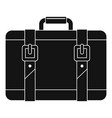 trip leather bag icon simple style vector image vector image