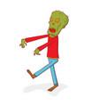 walking zombie vector image