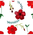 watercolor seamless pattern with red vector image vector image