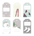 Winter tags with outdoor activities vector image vector image