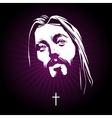 Jesus face portrait vector image