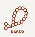 beads logo template vector image