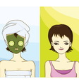 Pretty lady with relax spa day vector image