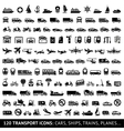 120 Transport icon vector image vector image