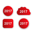2017 buttons vector image