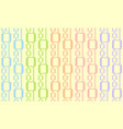 abstract retro seamless pattern simple bright vector image vector image