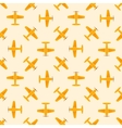 Airplane yellow seamless patten vector image vector image