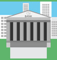 Bank building design flat
