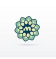 beautiful flower or mandala style logo design vector image