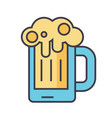 beer glass pint drink pub concept line vector image