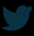 bird mosaic icon of halftone spheres vector image vector image