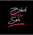 black friday inscription for sale and discount vector image vector image