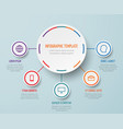 business infographic elements with steps vector image vector image