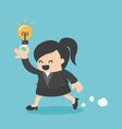 Business Woman Run Show idea vector image vector image