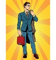 businessman in the pose of David vector image vector image