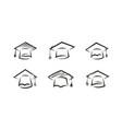 cap graduate logo education icon or symbol vector image vector image