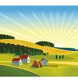 Cartoon Farm design background vector image vector image
