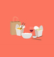 chinese takeaway food vector image vector image