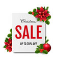 christmas sale banner with red christmas vector image vector image